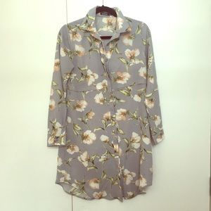 BooHoo floral shirt dress sz 6